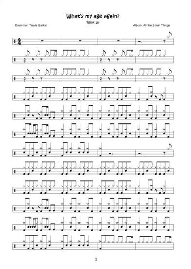 Drum : drum tabs sheet music Drum Tabs Sheet also Drum Tabs' Drum ...